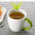 280мл фарфор чашка чая с резиновым покрытием ручки и заварочный бабочки