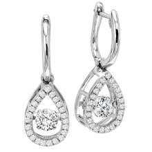 Fashion Dangle Earrings 925 Silver Dancing Diamond Jewelry