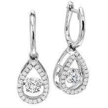 Мода мотаться серьги 925 серебряных танцующих ювелирных изделий