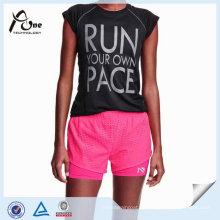Popular luz personalizada transpirable estiramiento mujeres al por mayor corriendo pantalones cortos