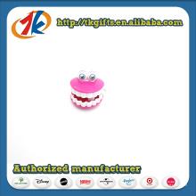Brinquedos plásticos engraçados dos dentes terminam brinquedos dos dentes fabricante da China
