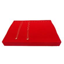 Personalizada Bandeja roja de almacenamiento de los colgantes del collar del terciopelo (TY-20N-RVH)