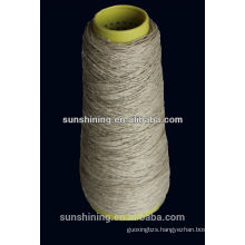 100% natural linen yarn Flax yarn 3.5NM raw, semi-bleached, short fiber, long fiber wet spun, dyr spun