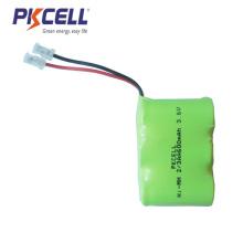 ni-mh 3.6v 2 / 3aa 600mah batería 2 / 3aa paquete de batería recargable nimh