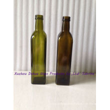 500ml Square Glass Olive Oil Bottles with Lids