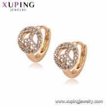 94940 En gros de bonne qualité top design bijoux en laiton matériel huggies boucles d'oreilles pour les femmes