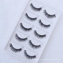 Hot selling wholesale price soft 5 pairs synthetic false eyelashes