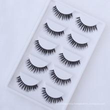 Hot selling wholesale price soft 5 pairs synthetic false eyelashes