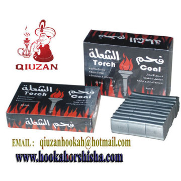 Silver Charcoal Cuboid Hookah Charcoal