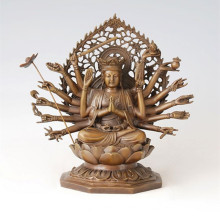 Estatua de Buda Avalokitesvara La Escultura de Bronce de Bodhisattva de Mil manos Tpfx-081