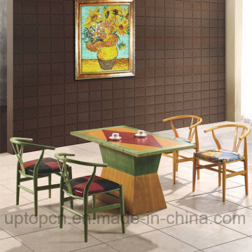Wooden Restaurant Furniture Set with Colorful Y Chair and Rectangle Table (SP-CT689)
