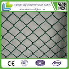 Pulver beschichtete hochwertige tragbare Kette Link Zaun für den Bau