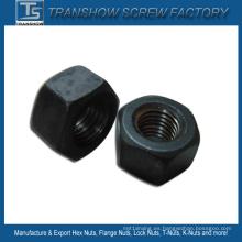 Tuerca hexagonal pesada negra del acero de carbono M24
