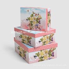 Caja de regalo al por mayor del almacenaje del papel de impresión / cajas del embalaje del papel de la jerarquización