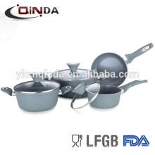 Latest products non-stick ceramic aluminium cookware set