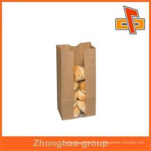 Guangzhou impressão e embalagem fornecedor OEM personalizado impresso pão embalagem sacos de papel