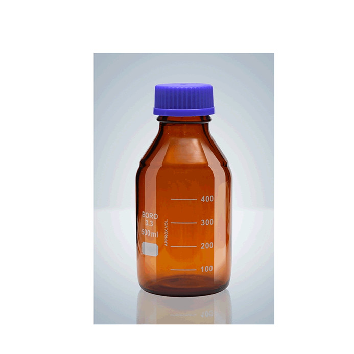 Reagent Bottle With Blue Cap