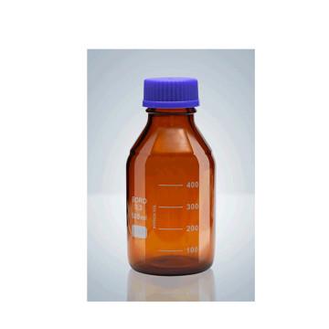 Botella de reactivo con tapón de rosca azul