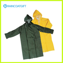 Vêtements de travail longs de PVC de polyester de PVC Rpp-037