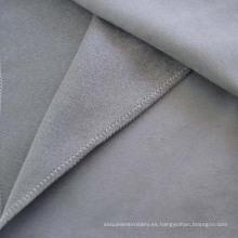Tela de tapicería de sofá poliester gamuza cuero del Faux