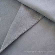 Tissu d'ameublement polyester Suede Faux cuir Canapé
