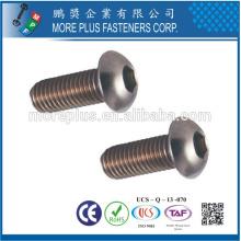 Hergestellt in Taiwan Edelstahl ISO7380 M3X10 Knopfleiste HEX Socket Cap Schrauben