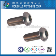 Feito em Taiwan Stainless steel ISO7380 M3X10 Button Head HEX Socket Cap Screws