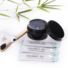 Teeth Whitening Gift Kits with Organic Coconut Activated Charcoal Powder oil pulling and toothbrush toothpaste