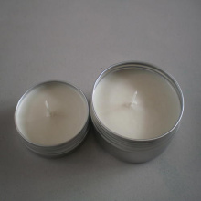 natural soy wax metal tin box massage candle