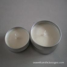 natural soy wax metal tin box massage candle
