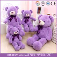 Brinquedo de Pelúcia Urso Gigante Cor Roxa Gorda Gordo