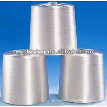 100% de fios de lã pura branco bruto