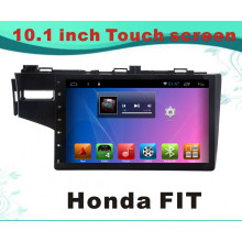 Система Android GPS-навигация Автомобильный DVD для Honda Fit 10.1-дюймовый емкостной экран с Bluetooth / TV / WiFi / USB