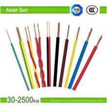 Cable de cobre eléctrico aislado PVC / XLPE de 450 / 700V thw