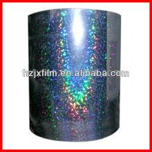 Holograma metalizado filme de estimação