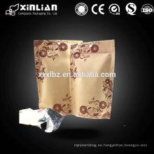 Natural Bolsa de papel Kraft / Natural Kraft Foil Stand Up Zip Bolsa
