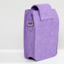 Purple rivet decorative chain bag mobile phone bag