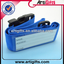 Promotion fashion luggage belt with name tag