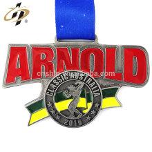 Medalla de los deportes del levantamiento de pesas grande antiguo de encargo del metal de la aleación del cinc