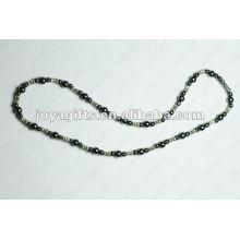 Collier en perles magnétiques en alliage d'hématite