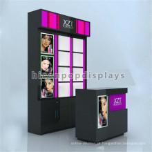Exposição de stands de exibição de produtos de cosméticos independentes qualificados e produtos de maquiagem Quiosque de cosméticos para montagem em parede