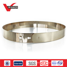 Mode Frauen Gold Metall Gürtel