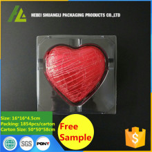Plastic Heart Shape Chocolate Package Tray