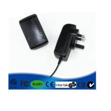 Adaptador DC12 de la fuente de alimentación del caso plástico