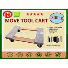 carro plano de madera carrito móvil de mudanza / carretilla móvil de herramientas para equipos eléctricos, muebles