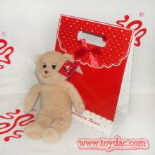 Плюшевые игрушки медведь с подарочной упаковке