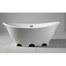 Hermosa forma de barco acrílico bañera independiente