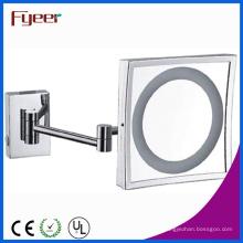 Miroir de salle de bain carré simple Fyeer avec lumière LED