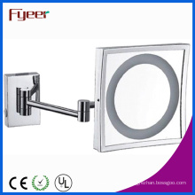 Fyeer Single Side Square Vanity Mirror with LED Light