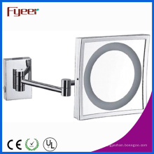 Fyeer Single Side Espelho quadrado com luz LED